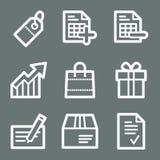 White shopping web icons Stock Image