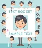 White short sleeved shirt business men text box. Set of various poses of White short sleeved shirt business men text box Stock Image