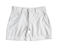 White shorts. Isolated on white background Stock Photos