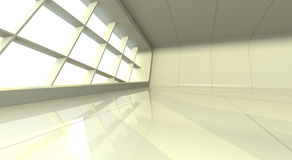 White showroom. Architectural setting to insert your product\model into Stock Photo