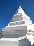 White Shrine in Thailand. White Shrine with blur sky in Thailand Stock Images