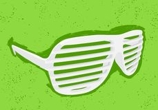 White shutter shades Stock Image