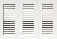 White Shutters Royalty Free Stock Photo