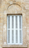 White shutters Stock Photo