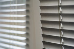 White shutters on the window in the Office Stock Images