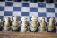 White side of a chess game Royalty Free Stock Images