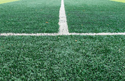 White Sideline on Football Field Royalty Free Stock Photography
