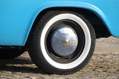 White sidewall tire Stock Photos