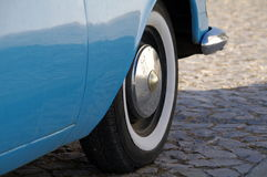 White sidewall tire Stock Images