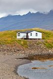 White Siding Icelandic House Royalty Free Stock Image