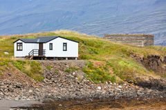White Siding Icelandic House Stock Images