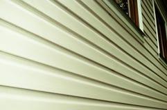 White siding wall closeup view Royalty Free Stock Photography