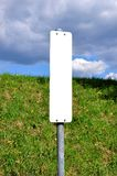 White sign Royalty Free Stock Photography