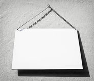 White sign Royalty Free Stock Image