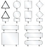 White sign collection Royalty Free Stock Image