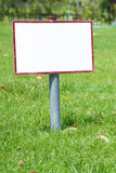 White sign empty Royalty Free Stock Image