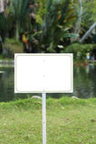 White sign in a peaceful lake. Stock Photography