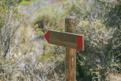 White signal direction in a park Stock Photography