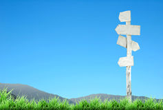 White signpost Stock Photos