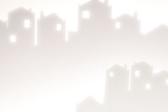 White Silhouette Cityscape Royalty Free Stock Photography