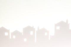 White Silhouette Cityscape Stock Photo