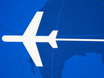 Silhouette of jet airplane royalty free stock photo