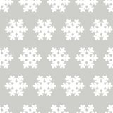 White silhouette snowflakes vector gray background. paper wrap design for gift. gift wrapping. merry christmas and happy new year. White silhouette snowflakes royalty free illustration