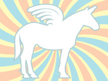 White Silhouette Unicorn Swirl Vector Illustration Royalty Free Stock Photos
