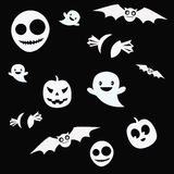 White silhouettes for halloween Stock Photo