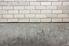 White silicate bricks and plaste Stock Images
