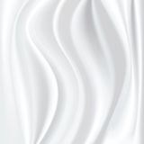 White silk. Vector white silk texture, curtain Stock Illustration