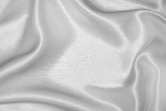 White silk. Texture, background or frame stock photography