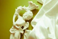 White silk background on green Stock Image