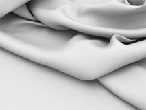 White silk cloth soft fabric background Stock Images