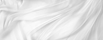 White silk fabric stock photography