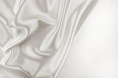 White Silk Fabric Stock Photo