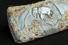 White Silk Purse Stock Images
