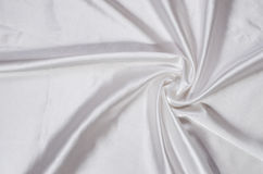 White silk satin fabric Royalty Free Stock Photos