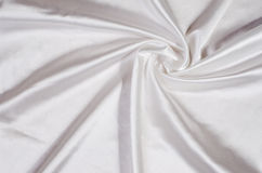 White silk satin fabric Stock Photo