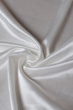 White silk satin fabric Stock Images