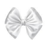 White silky bow ribbon Royalty Free Stock Image
