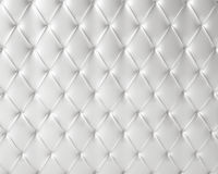 White silky luxury buttoned pattern Royalty Free Stock Images