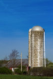 White Silo Red Barn Royalty Free Stock Image