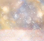 White and silver abstract bokeh lights. defocused background. Royalty Free Stock Photos