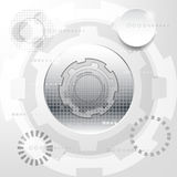 White and silver abstract technology  background Royalty Free Stock Images