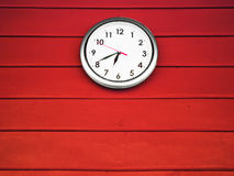 White silver clock Royalty Free Stock Images