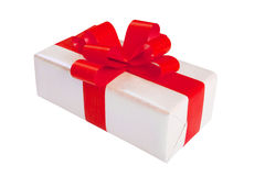 White Silver Gift Box Royalty Free Stock Image