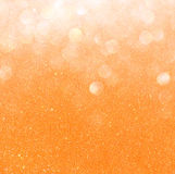 White silver and gold abstract bokeh lights. defocused background Stock Photos