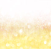 White silver and gold abstract bokeh lights Stock Images