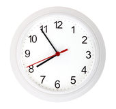 White simple clock Royalty Free Stock Image